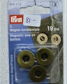 Magnetisk Sy på-knapp Antik 19mm