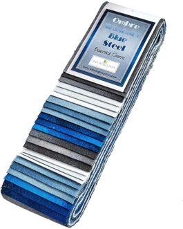 Färdigskurna 2.5″ remsor Ombre Washart Blue Steel